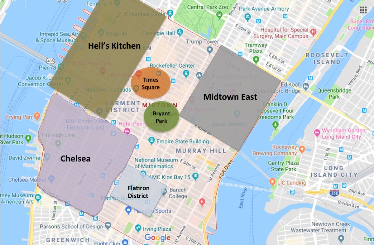 Map Of Midtown New York.Best Places To Stay In New York For First Timers Eatandtravelwithus